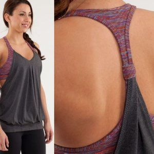 Lululemon Practice Freely Tank - Deep Coal /Wee Are From Space Black March Multi